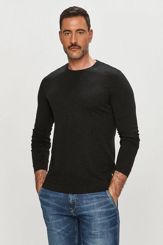 černá Marc O'Polo - Tričko s dlouhým rukávem Pánský