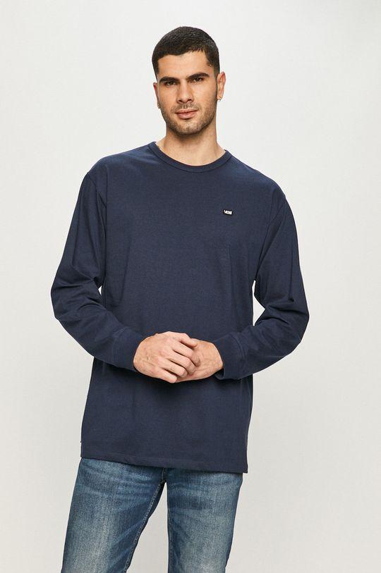 námořnická modř Vans - Tričko s dlouhým rukávem Pánský