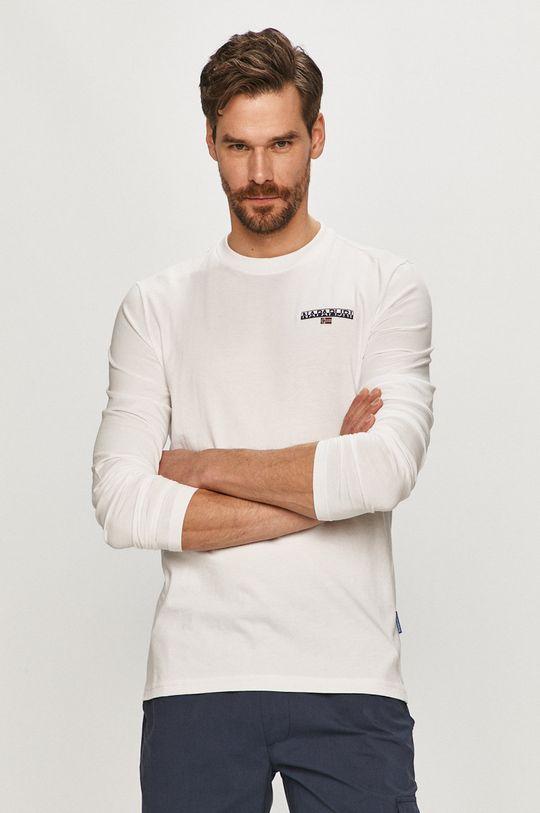 bílá Napapijri - Tričko s dlouhým rukávem Pánský