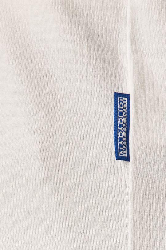 bílá Napapijri - Tričko s dlouhým rukávem