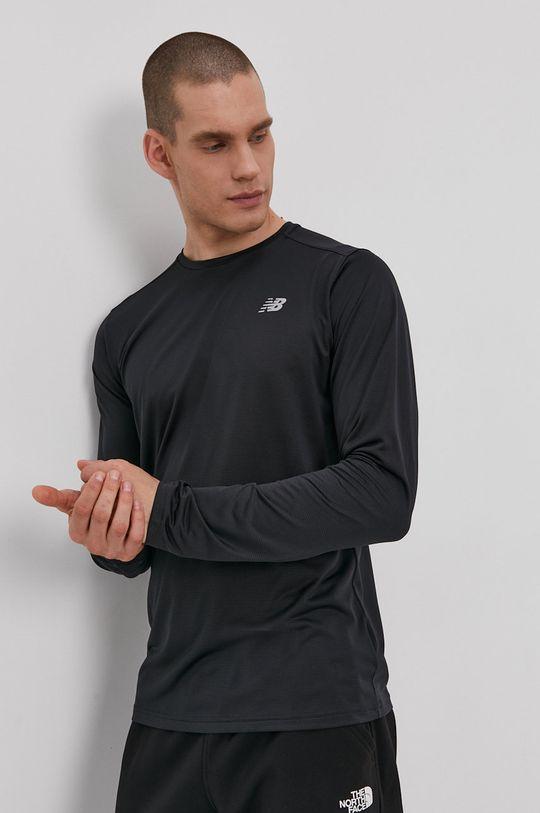 čierna New Balance - Tričko s dlhým rukávom Pánsky