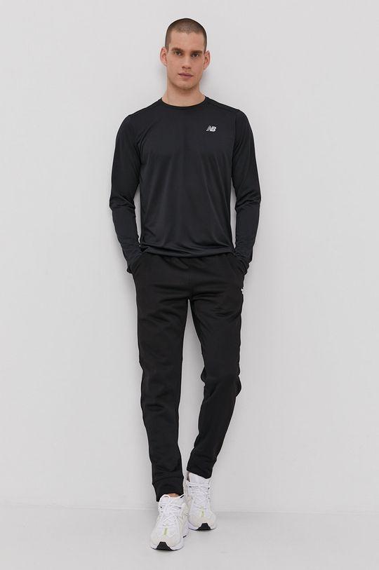 New Balance - Tričko s dlhým rukávom čierna