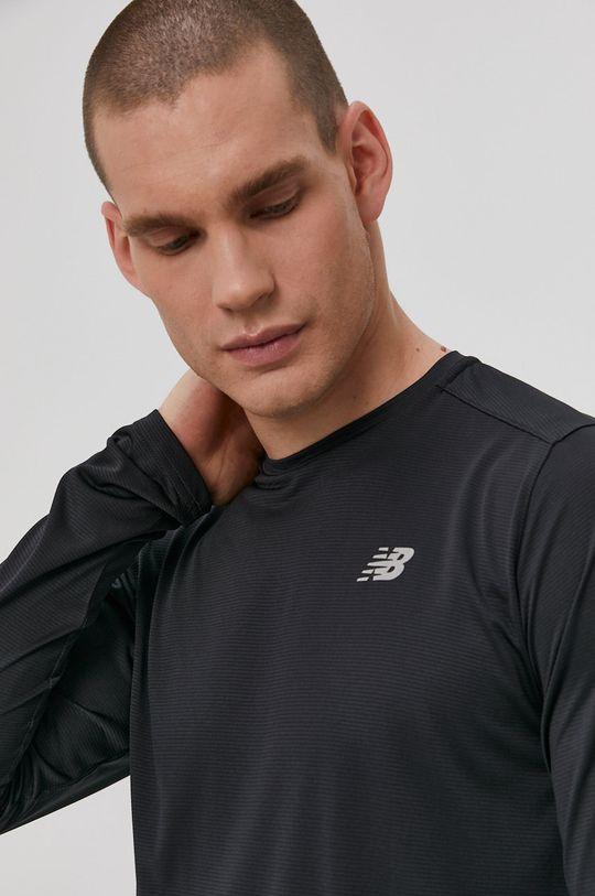 čierna New Balance - Tričko s dlhým rukávom