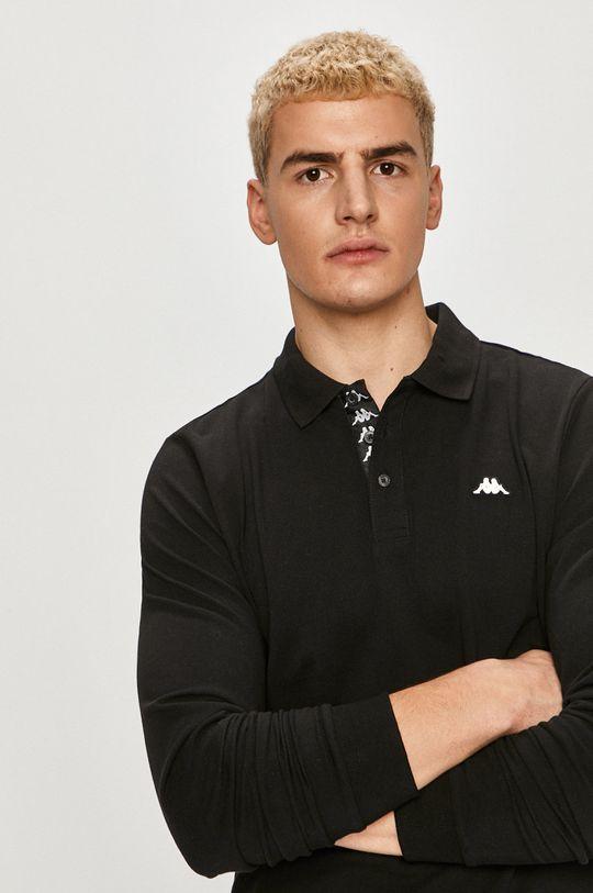 čierna Kappa - Tričko s dlhým rukávom Pánsky