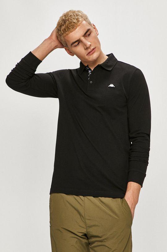 čierna Kappa - Tričko s dlhým rukávom