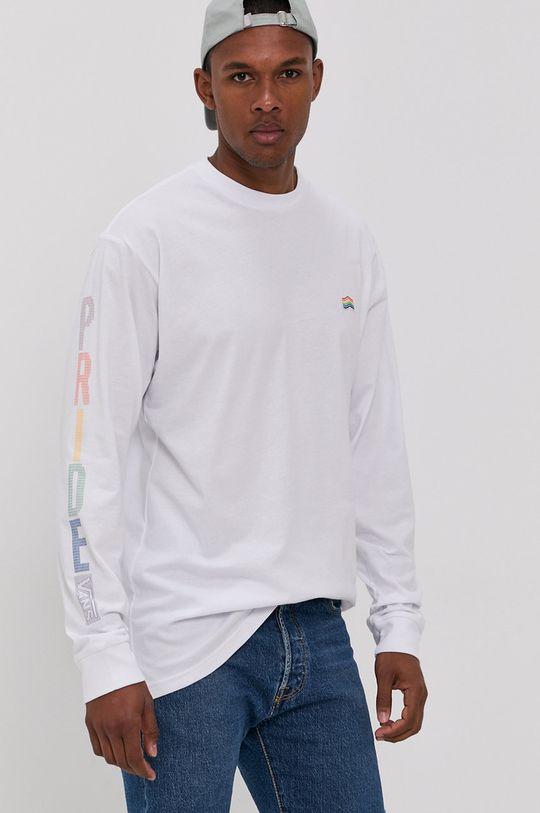 bílá Vans - Tričko s dlouhým rukávem