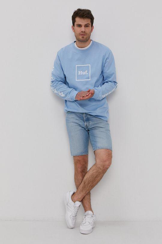 HUF - Longsleeve jasny niebieski