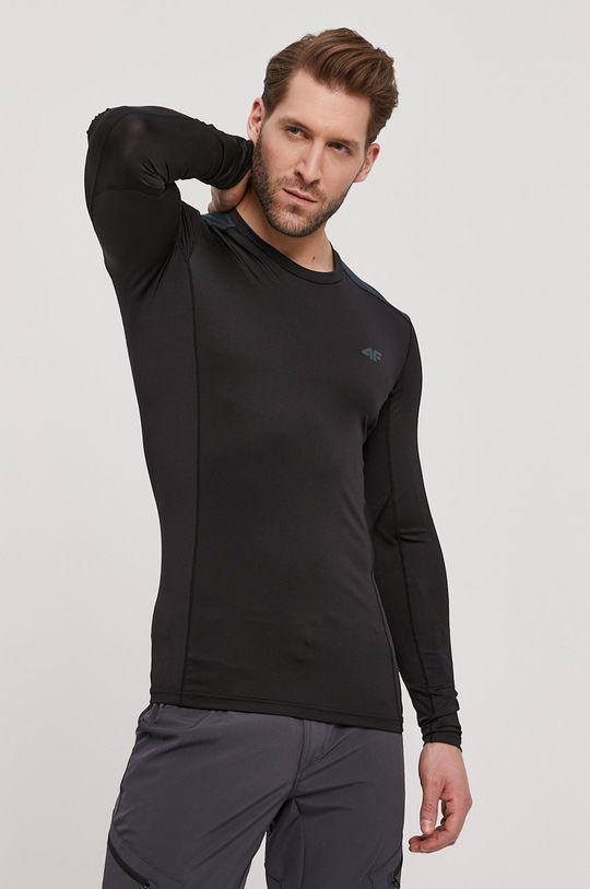 černá 4F - Tričko s dlouhým rukávem Pánský