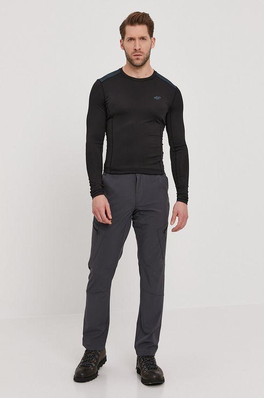 4F - Tričko s dlouhým rukávem černá