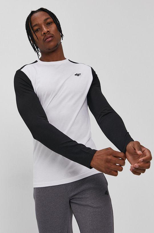 biela 4F - Tričko s dlhým rukávom Pánsky