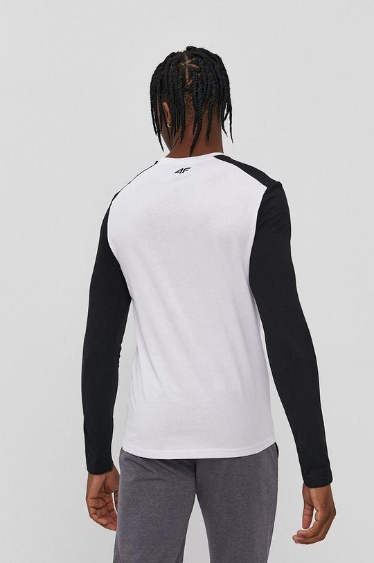 4F - Tričko s dlhým rukávom biela