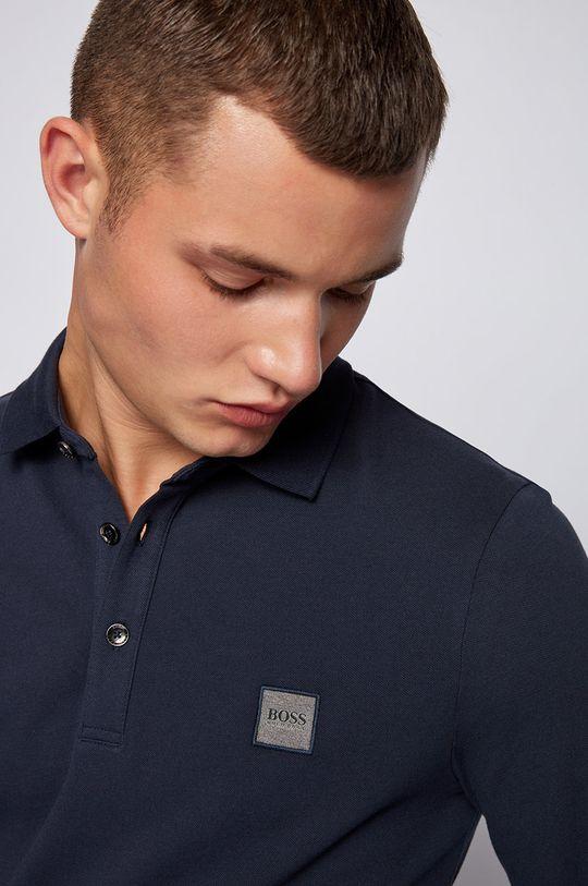 námořnická modř Boss - Tričko s dlouhým rukávem BOSS CASUAL