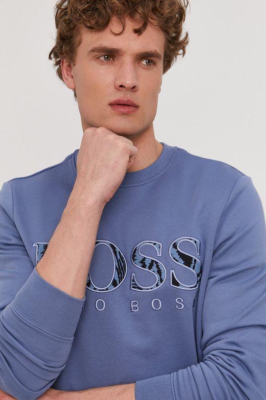 modrá Boss - Bavlnená mikina Boss Casual Pánsky
