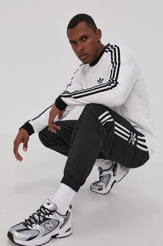 bílá adidas Originals - Tričko s dlouhým rukávem Pánský