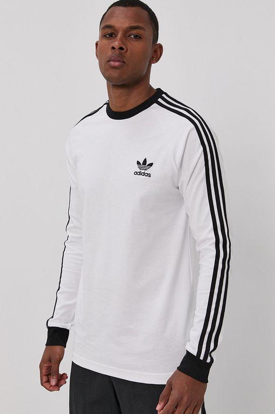 adidas Originals - Tričko s dlouhým rukávem bílá