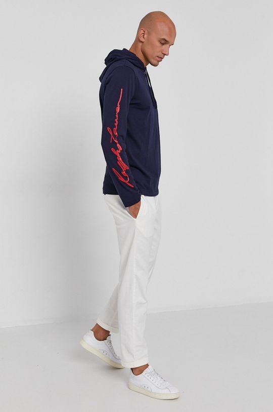 Polo Ralph Lauren - Tričko s dlouhým rukávem námořnická modř