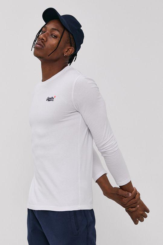 bílá Superdry - Tričko s dlouhým rukávem Pánský