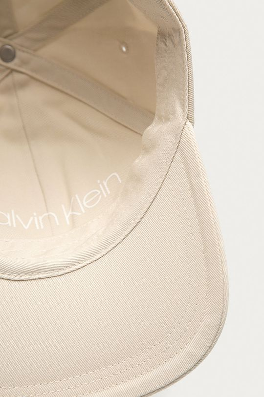 kremowy Calvin Klein - Czapka