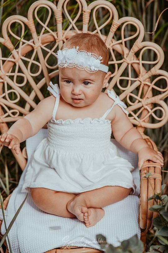 biały Jamiks - Opaska dziecięca Dziewczęcy