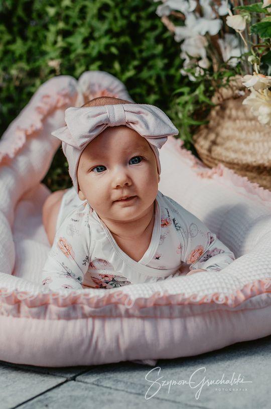 Jamiks - Opaska dziecięca pastelowy różowy
