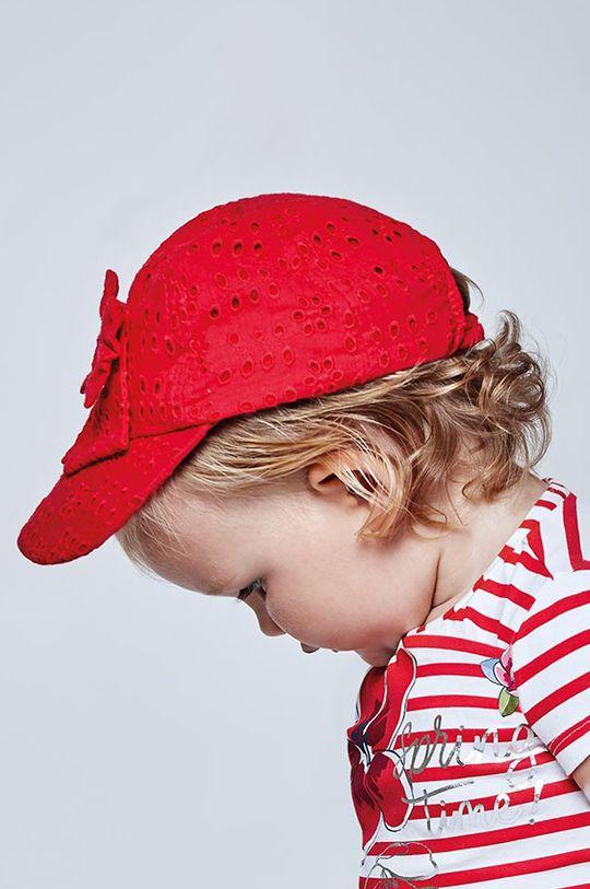 czerwony Mayoral - Czapka dziecięca Dziewczęcy