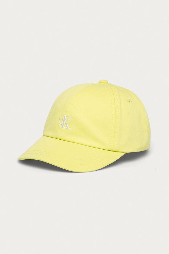jasně žlutá Calvin Klein Jeans - Dětska čepice Dětský