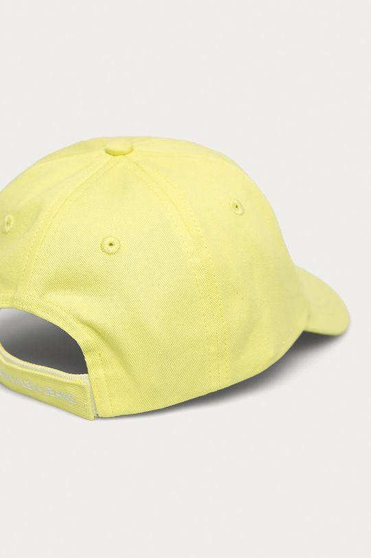 Calvin Klein Jeans - Dětska čepice jasně žlutá