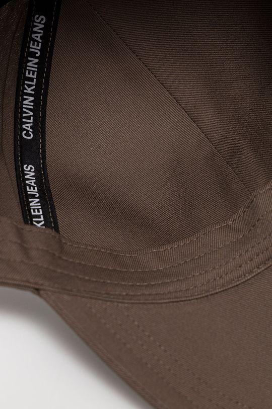 kávová Calvin Klein Jeans - Čiapka
