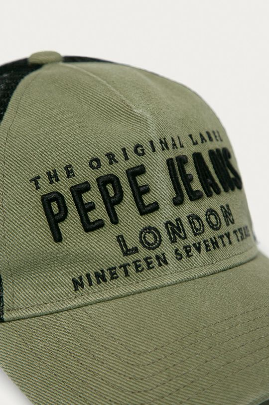 Pepe Jeans - Čiapka Ordesa hnedo zelená