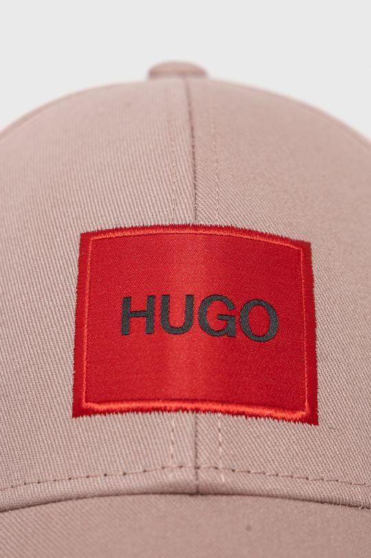 HUGO - Czapka/kapelusz 50449455 pastelowy różowy