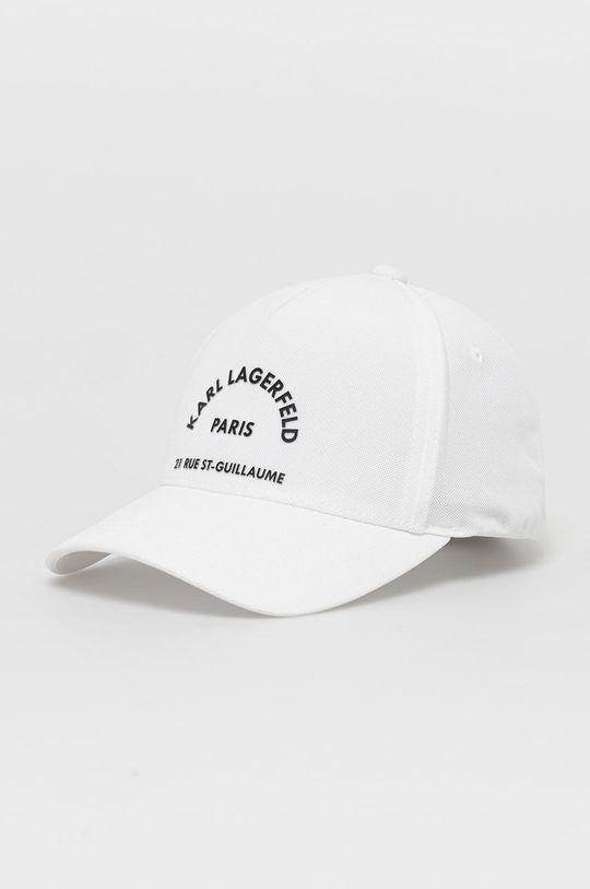 biały Karl Lagerfeld - Czapka Męski