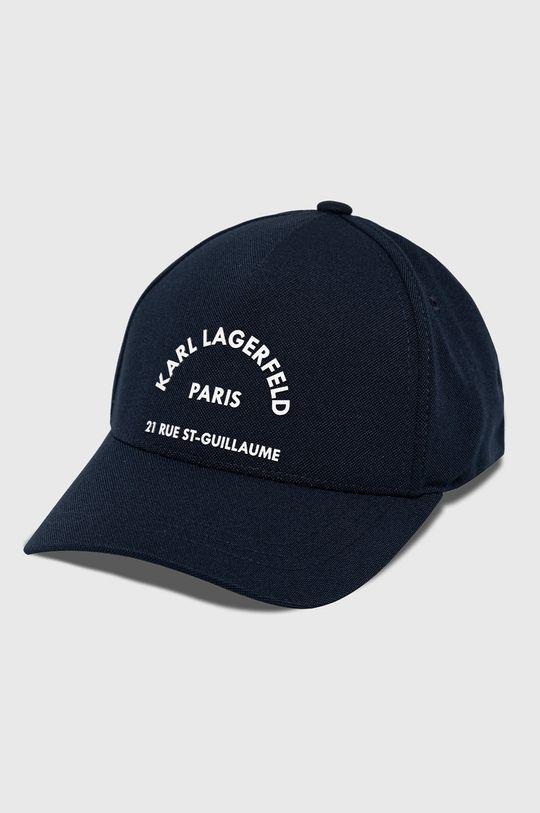granatowy Karl Lagerfeld - Czapka Męski