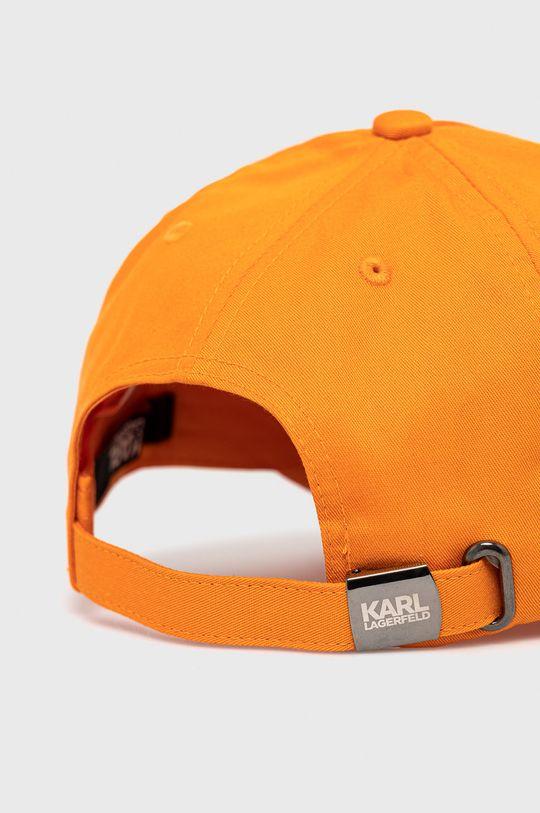 Karl Lagerfeld - Czapka pomarańczowy