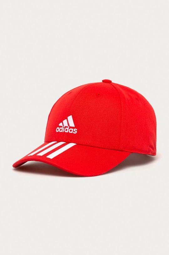 czerwony adidas Performance - Czapka Męski