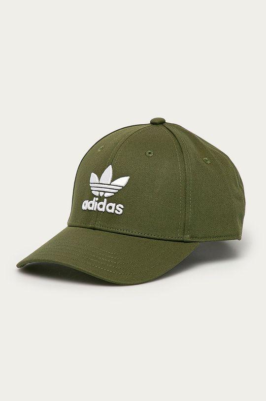 tlumená zelená adidas Originals - Čepice Pánský