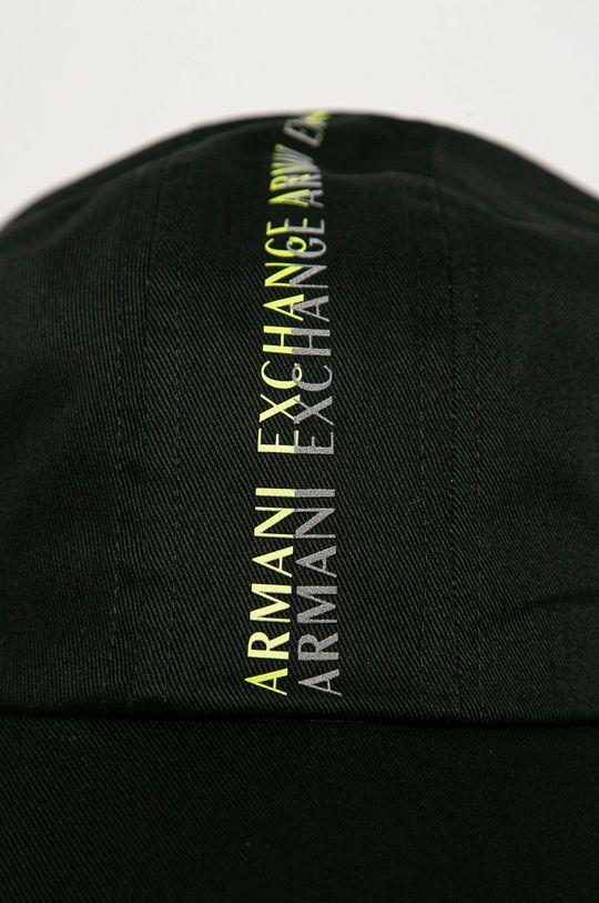 Armani Exchange - Čiapka čierna