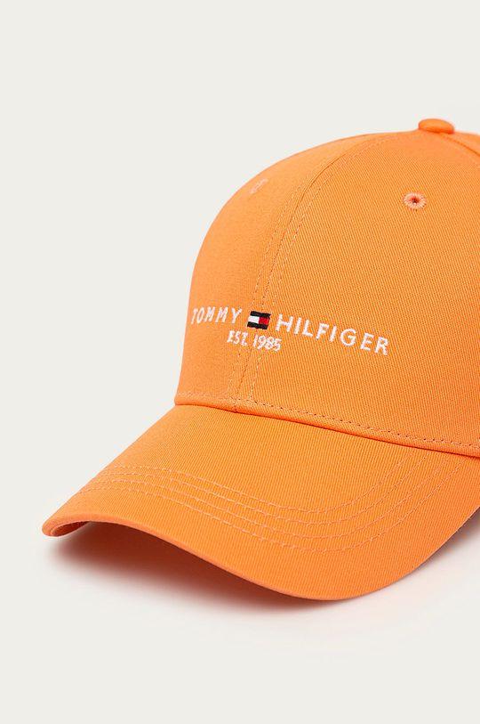 Tommy Hilfiger - Czapka pomarańczowy