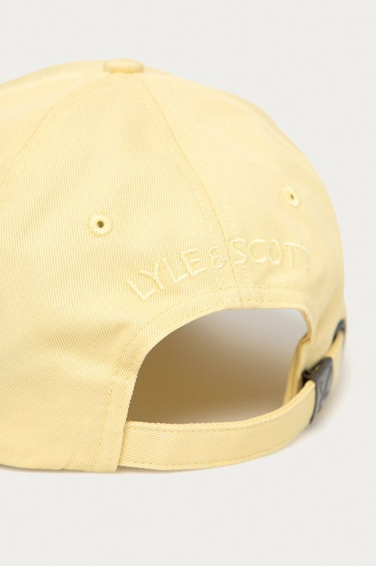 Lyle & Scott - Czapka z daszkiem żółty