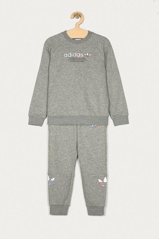 světle šedá adidas Originals - Dětská tepláková souprava 104-128 cm Chlapecký