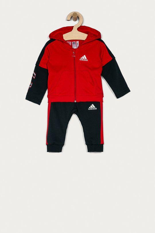 červená adidas Performance - Dětská tepláková souprava 62-104 cm Chlapecký