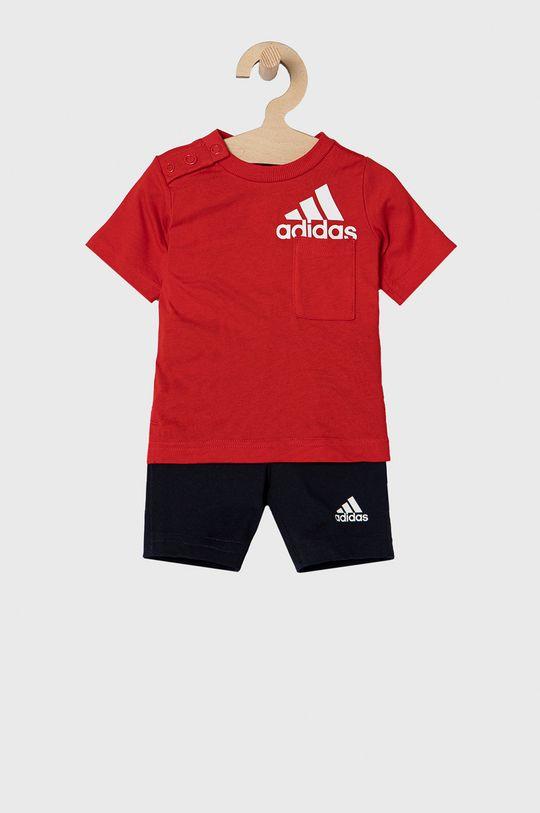 czerwony adidas Performance - Komplet dziecięcy 62-104 cm Chłopięcy