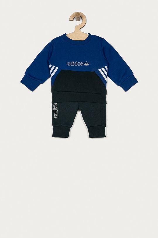 námořnická modř adidas Originals - Dětská tepláková souprava 62-104 cm Chlapecký