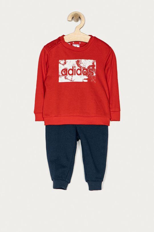czerwony adidas - Dres dziecięcy 62-104 cm Chłopięcy