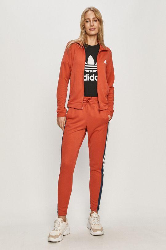 pomarańczowy adidas Performance - Dres Damski