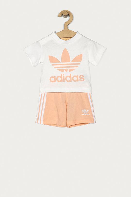 brzoskwiniowy adidas Originals - Komplet dziecięcy 62-104 cm Dziewczęcy