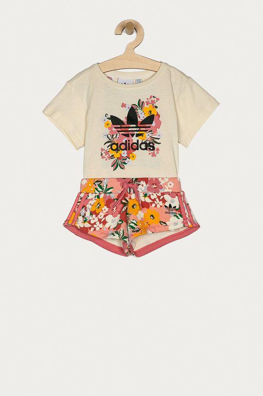kremowy adidas Originals - Komplet dziecięcy 104-128 cm Dziewczęcy
