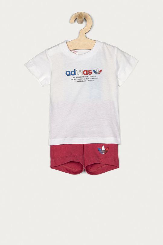 biały adidas Originals - Komplet dziecięcy 62-104 cm Dziewczęcy
