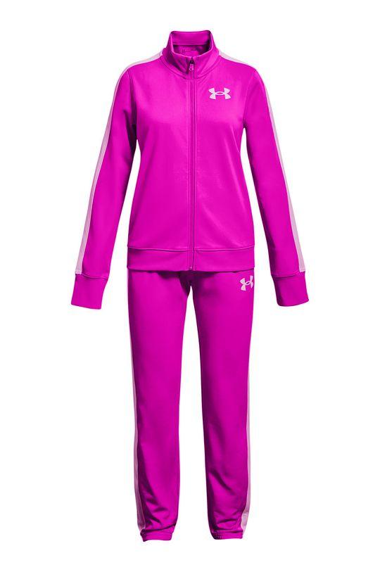 ostry różowy Under Armour - Komplet dziecięcy Knit Track Suit Dziewczęcy