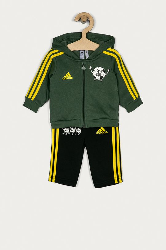 zelená adidas Performance - Detská tepláková súprava 62-104 cm Detský