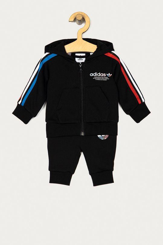 czarny adidas Originals - Dres dziecięcy 80-104 cm Dziecięcy